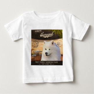 Cafe Samoyed Baby T-Shirt