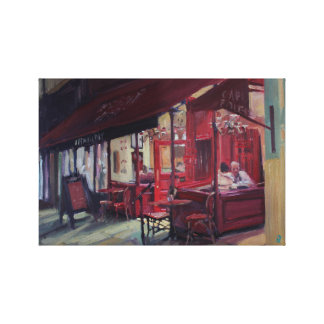 Cafe scene canvas print