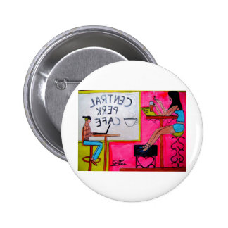 Cafe Scenery 2 Inch Round Button