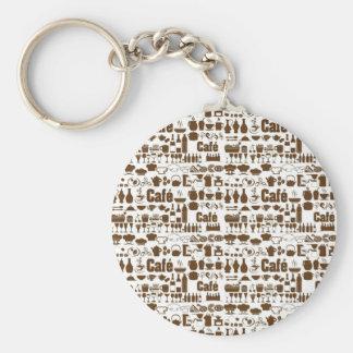 CAFE series Basic Round Button Keychain