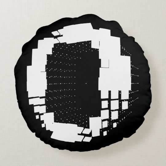 "Cafe Sound letter""O"" Round Pillow"
