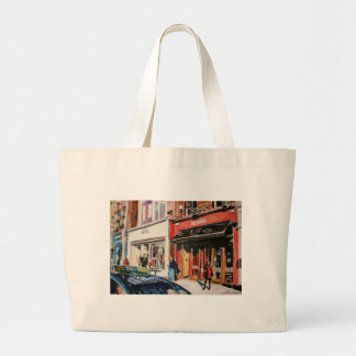 cafe stephens green dublin large tote bag