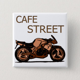Cafe Street 2 Inch Square Button