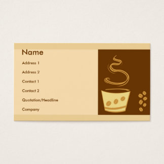 Cafe Style Business Card