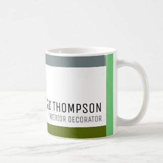 café-tasse professionnelle de décor avec la mug blanc