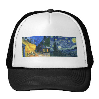 Cafe Terrace and Starry Night Trucker Hat