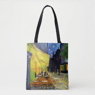 Café Terrace at Night by Van Gogh Fine Art Tote Bag