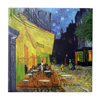 Cafe Terrace at Night by Vincent Van Gogh Tile