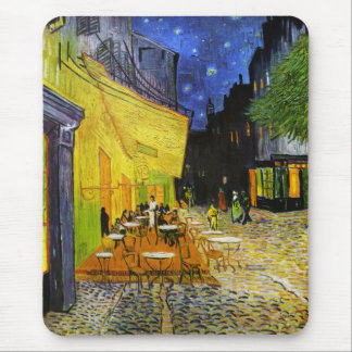 Cafe Terrace at Night Mouse Pad