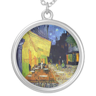 Cafe Terrace at Night Custom Necklace