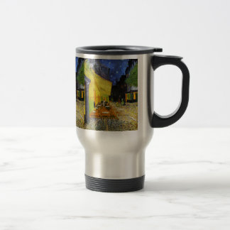 Cafe Terrace at Night Travel Mug