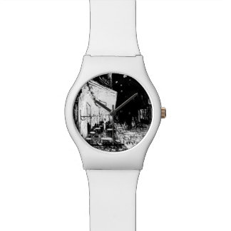Cafe Terrace at Night Wristwatch