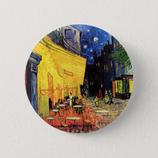 Café Terrace on the Place du Forum, Arles at Night 2 Inch Round Button