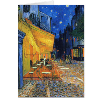 Cafe Terrace reprint Greeting Card