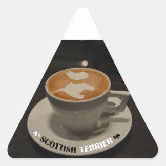 Café Terrier Triangle Sticker