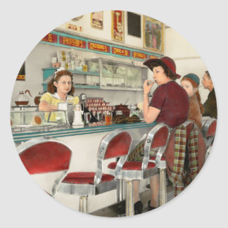 Cafe - The local hangout 1941 Classic Round Sticker