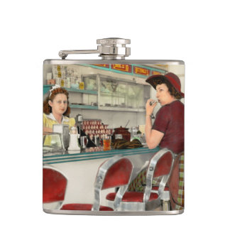 Cafe - The local hangout 1941 Hip Flask