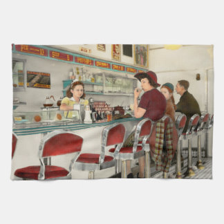 Cafe - The local hangout 1941 Kitchen Towel