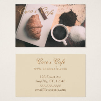 """""""Cafe"""" Themed Business Card"""