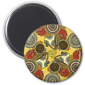 Cafe Time 2 Inch Round Magnet
