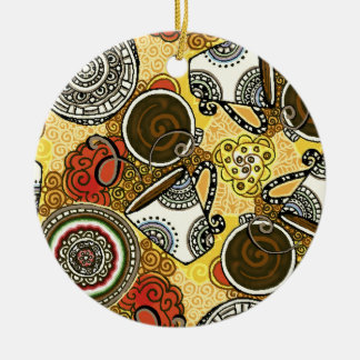 Cafe Time Ceramic Ornament
