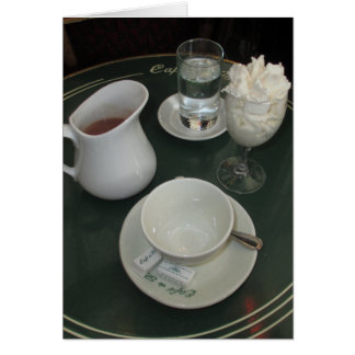 Cafe Viennois at Paris Cafe Greeting Card
