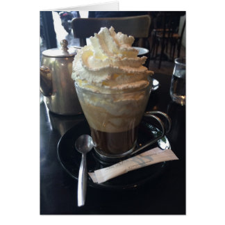 Cafe Viennois - Lots of Whipped Cream | Paris Greeting Card