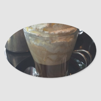 Cafe Viennois - Lots of Whipped Cream | Paris Oval Sticker