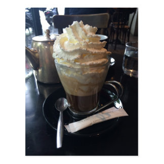 Cafe Viennois - Lots of Whipped Cream   Paris Postcard