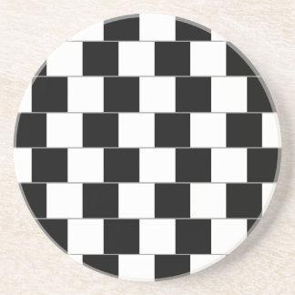 Cafe Wall Optical Illusion Horizontal Lines Coaster