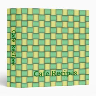 Cafe Weave Recipes Binder