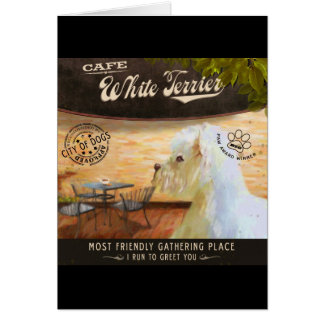 Cafe WhiteTerrier Card