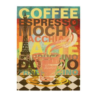 Cafe Wood Art Drink Names