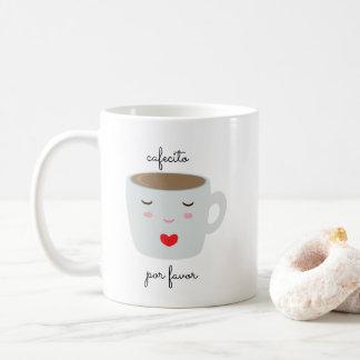 """Cafecito"" Spanish Language Mug with Coffee Cup"