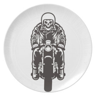 Caferacer Until Die Plate
