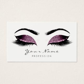 Caffe Noir Glitter Makeup Artist Lash Black White Business Card