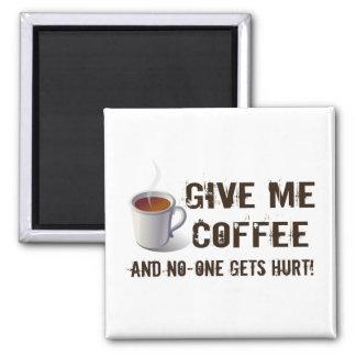 Caffein Deprivation Square Magnet