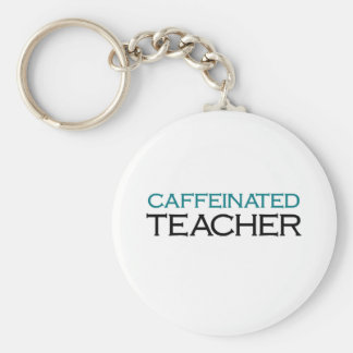 Caffeinated Teacher (blue jolt) Keychain