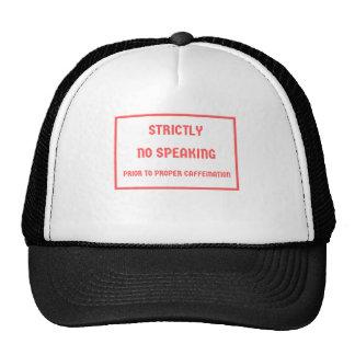 caffeination trucker hat