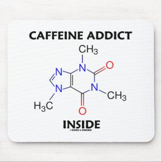 Caffeine Addict Inside Caffeine Molecule Mousepads