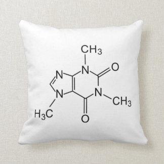 caffeine chemical formula coffee chemistry element throw pillow