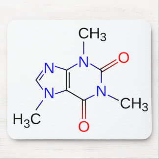 Caffeine Chemical Structure Mousepad