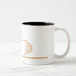 Caffeine Coder Two-Tone Coffee Mug