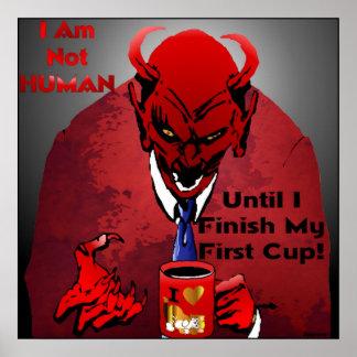 Caffeine Devil Poster
