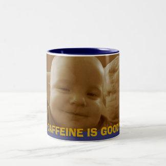 CAFFEINE IS GOOD! Two-Tone COFFEE MUG