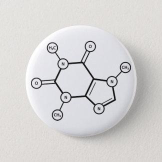 caffeine molecular structure 2 inch round button