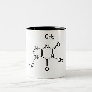 caffeine molecule Two-Tone coffee mug