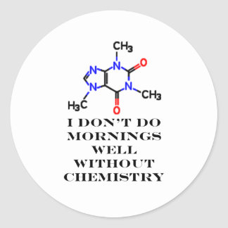 Caffeine Morning Black The MUSEUM Zazzle Gifts Round Sticker