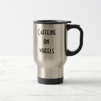Caffeine on wheels travel mug