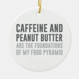 Caffeine & Peanut Butter Ceramic Ornament